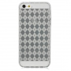 Protective Diamond Grid Pattern TPU Case Cover for Iphone 5 - Transparent White