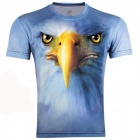 3D Olecranon Style Short Sleeve T-shirt for Men - Light Blue (Size-XXXL)
