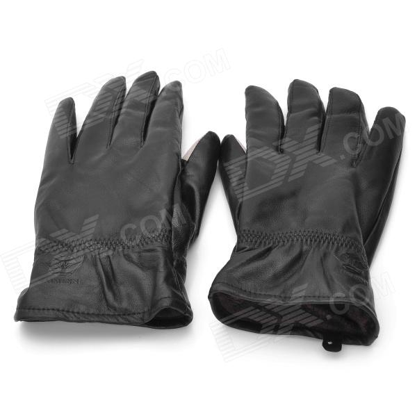 Capacitive Screen Touching Hand Warmer Gloves - Black (Size L / Pair)