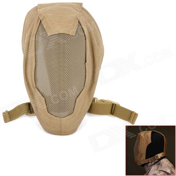 Steel Wire Mesh Protective Full Face Mask - Coyote Tan