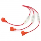 Universal 10A Motorcycle Fuse Set / Fuse Box - Red + White (3 PCS)