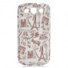 Protective Plastic Back Case for Samsung Galaxy S3 i9300 - Light Pink + Brown