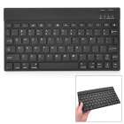 Super Slim Rechargeable 78-Key Bluetooth V3.0 Wireless Keyboard for Ipad 2 / New Ipad - Black