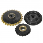 Motorcycle Replacement Pump Wheel Set - Black (3 PCS)