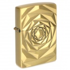 Rose Pattern Fuel Fluid Lighter - Golden