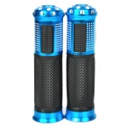 Comfortable Anti-Slip Latex Motorcycle Handle Grips - Blue + Black + Silver (2 PCS)
