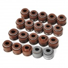 Motorcycle Valve Oil Seal for CG125 / JH70 - Brown + Grey (10 PCS)