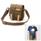 CADEN N1 Retro Canvas Fabric Shoulder Bag for Camera - Coffee