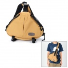 CADEN K1 Water Resistant Oxford Fabric Triangle Shoulder Bag for DSLR - Khaki