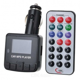 "1.3"" LED Car MP3 Player FM Transmitter w/ Remote Controller - Black"