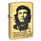 Che Guevara Pattern Kerosene Oil Lighter - Bronze (Type C)