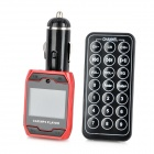 "1,3 ""LED-Auto MP3-Player FM Transmitter w / Remote Controller - Schwarz + Rot"