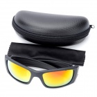 Cool Outdoor Sports UV Protection Sunglasses - Black + Red + Yellow