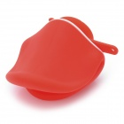 Stylish Duck Mouth Style Stand Holder Cable Winder for iPhone 4 / 4S + More - Red