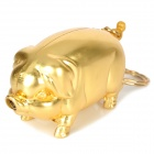 Novelty Pig Style Butane Lighter Keychain - Golden
