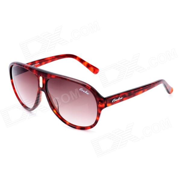 Fashion Oreka WG001C2 Resin Lens Sunglasses w/ Case - Red Tortoiseshell
