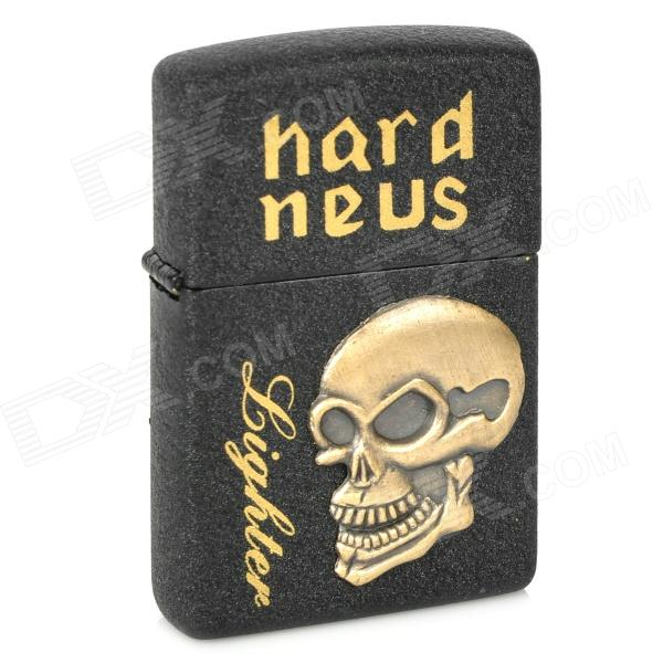 Skull Pattern Kerosene Oil Lighter - Black (Type B)