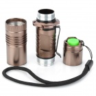 New-C15 1000lm 5-Mode White Light Flashlight - Coffee (1 x 18650)