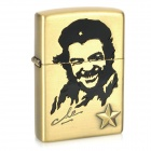 Che Guevara Pattern Kerosene Oil Lighter - Bronze (Type B)