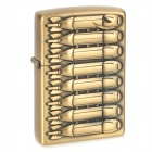 8 Rows Bombs Pattern Kerosene Oil Lighter - Bronze