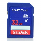 SanDisk SDB-32GB SDHC Memory Card - Blue + Red (32GB / Class 4)