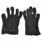 Skull Pattern Cotton Full Finger Gloves - Black + White (1 Pair)
