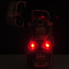Two Skull Heads Pattern Windproof Butane Gas Lighter - Bronze