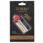 Zorro Lighter Wick Cotton Core + Flint - Transparent + Red