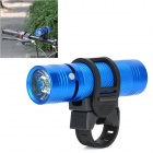 Multifunction 3W 2-Mode LED Flashlight with Music Speaker Player w / TF Slot / 3.5mm Jack - Blue