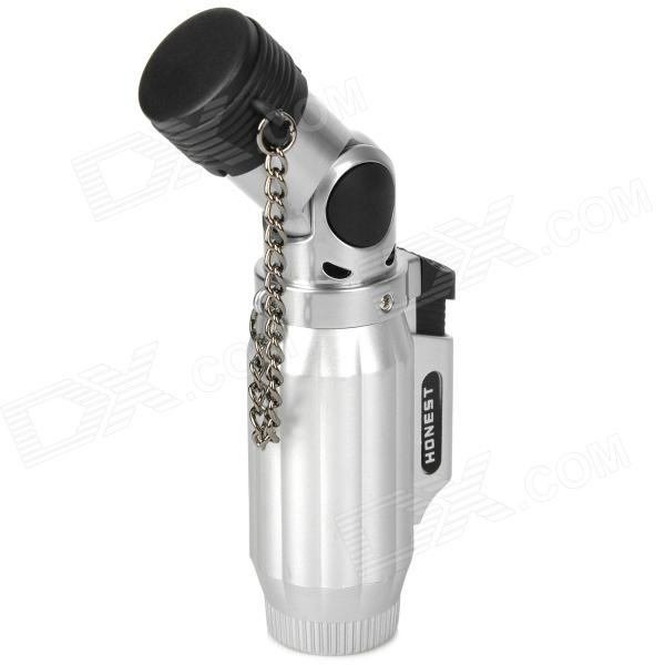 1300 Flame Temperature Zinc Alloy + Plastic Butane Gas Lighter - Silver flame trees of thika