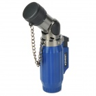 1300 Flame Temperature Zinc Alloy + Plastic Butane Gas Lighter - Blue + Silver
