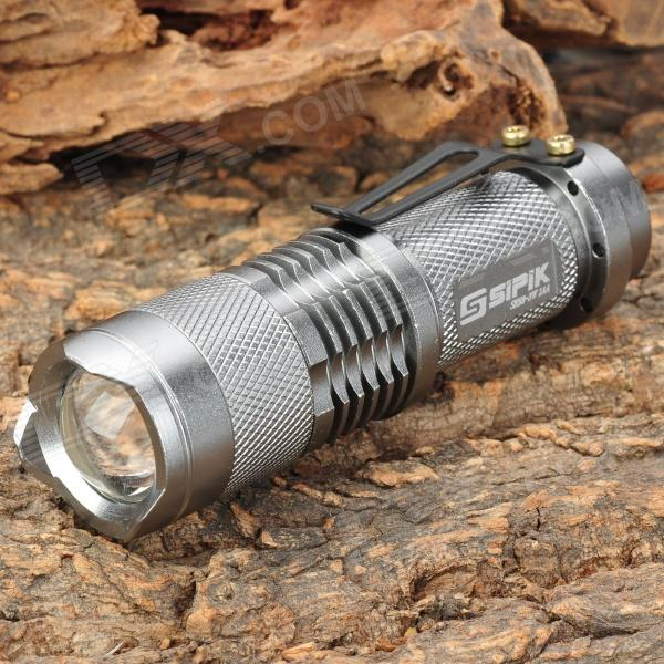 SIPIK SK-68 260lm 1-Mode White Light Zooming Flashlight - Grey (1 x AA)