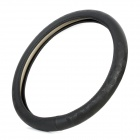Universal M Size PU Leather Big Checkering Pattern Steering Wheel Sleeve - Black (Diameter-38cm)
