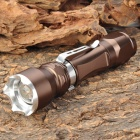 New-637 Cree XM-L T6 1000lm 5-Mode White Light Zooming Flashlight - Coffee (1 x 18650)