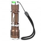 New-631 1000lm 5-Mode White Light Zooming Flashlight - Coffee (1 x 18650)