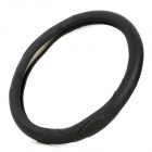 Universal M Size Genuine Leather Steering Wheel Sleeve - Black (Diameter-38cm)