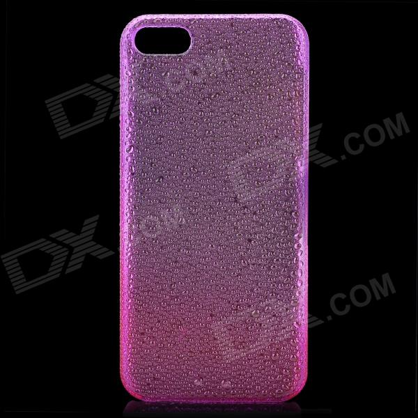 Protective ABS Raindrop Back Cover Case for Iphone 5 - Transparent Purple protective pc tpu back case for iphone 5 w anti dust cover lavender purple