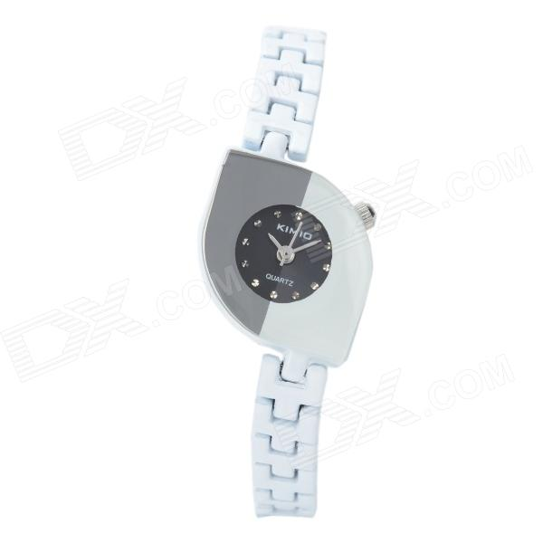 Exquisite Lady's Analog Quartz Wrist Watch - White + Black (1 x LR626 / LR66)