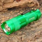 SIPIK SK-68 260lm 1-Mode White Light Zooming Flashlight - Green (1 x AA)