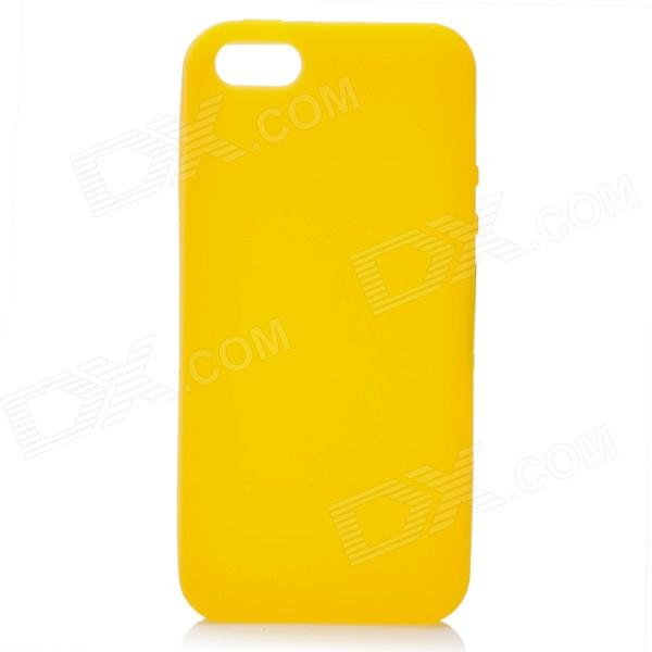 Protective Silicone Back Cover Case for Iphone 5 - Yellow stylish bubble pattern protective silicone abs back case front frame case for iphone 4 4s