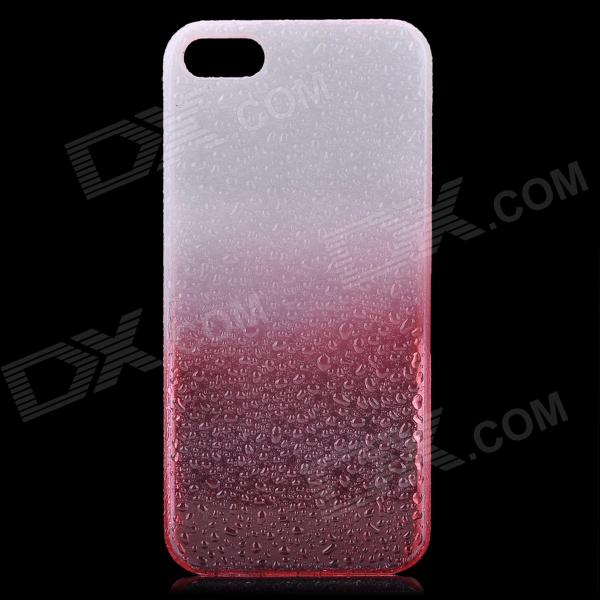 Protective ABS Raindrop Back Cover Case for Iphone 5 - White + Red forex b016 6791 c