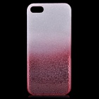 Protective ABS Raindrop Back Cover Case for Iphone 5 - White + Red