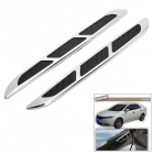 Car Side Airflow Decoration Stickers - Black + Silver (2 PCS)