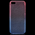 Protective ABS Raindrop Back Cover Case for Iphone 5 - Transparent Red + Blue