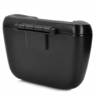 Car Gadget Garbage Box Storage w/ Clip - Black