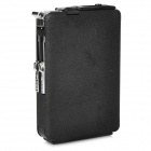 Automatic Cigarette Case Style Windproof Iron Butane Gas Lighter - Black