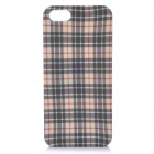 Protective ABS Lattice Pattern Back Cover Case for iPhone 5 - White + Grey