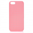 Protective ABS Hole Net Back Cover Case for Iphone 5 - Pink