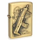 Sniper Pattern Kerosene Oil Lighter - Bronze