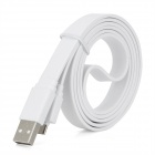 USB 2.0 to Micro USB Flat Connection Cable - White (100cm)
